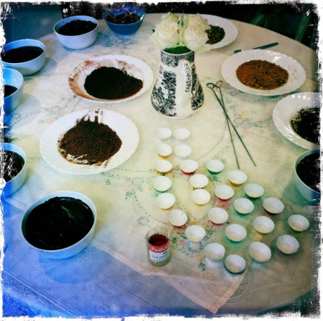 Chocolate truffle making