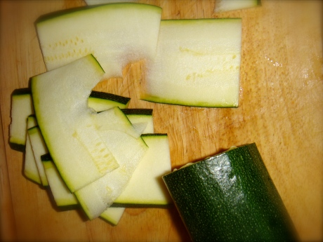 Chopping Courgette