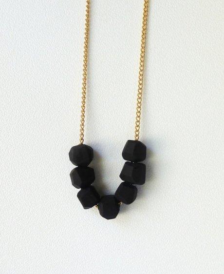 Coal Geo Necklace