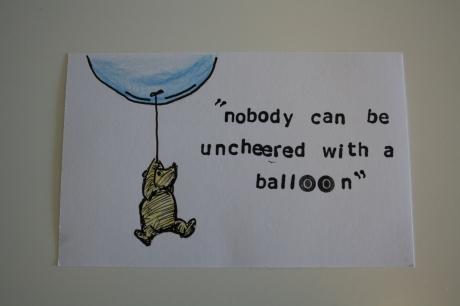 Winnie the Pooh ballon quote