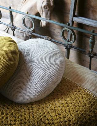 Toast Crochet Cushion