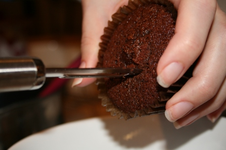 Chocolate sponge cupcake