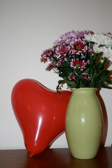 Heart Balloon and flowers