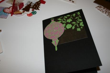Christmas card decoration