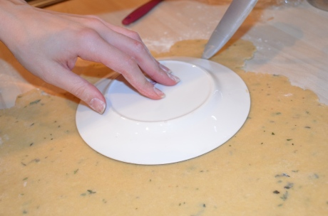 Cutting out pastry