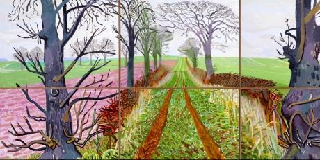 David Hockney Field Painting