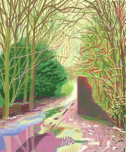 David Hockney Path iPad Drawing