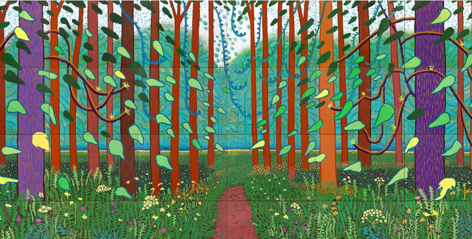 Art david hockney a bigger picture katy bloss for David hockney painting
