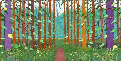 David Hockney Trees Painting