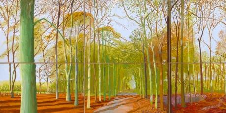 David Hockney Woods Painting