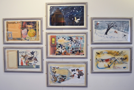 Mark Hearld Paper Collage Exhibition