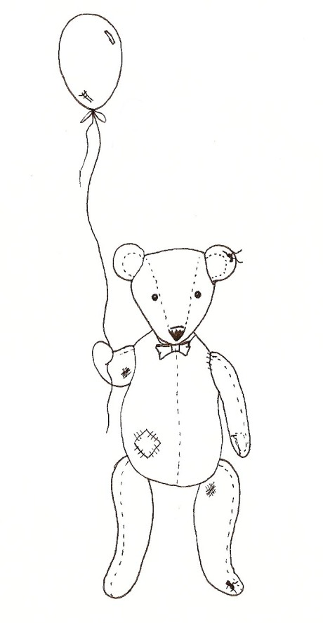 Birthday Bear Pen Sketch