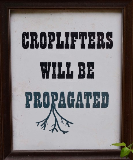 Croplifters Sign