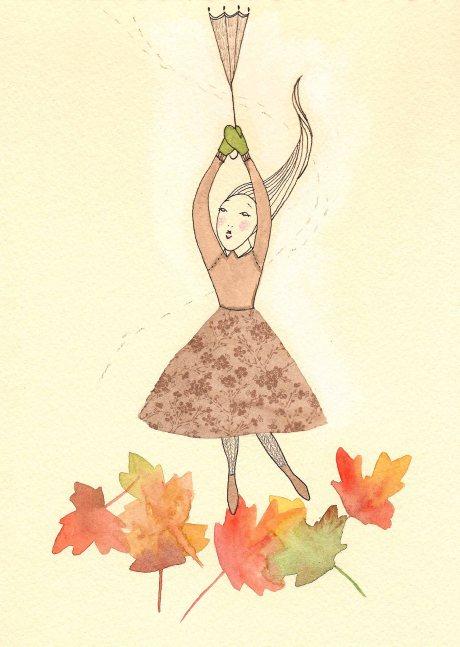 Falling Leaf Girl