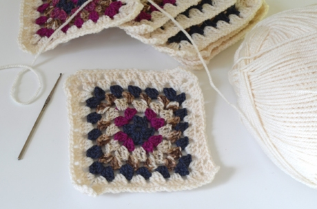 Granny Square Crochet Blocks