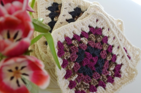 Granny Squares and Spring Tulips