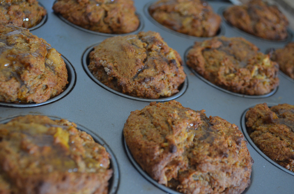 Baking Healthy Sweet Potato Muffins