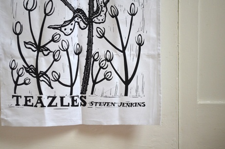 Linen hand made tea towel.