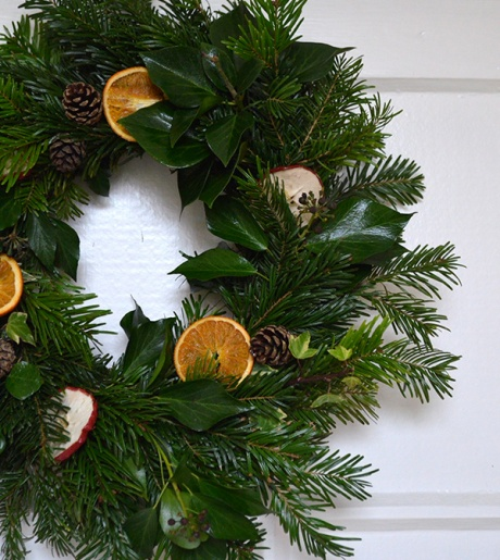 Handmade Christmas Wreath at Crumpet Cottage