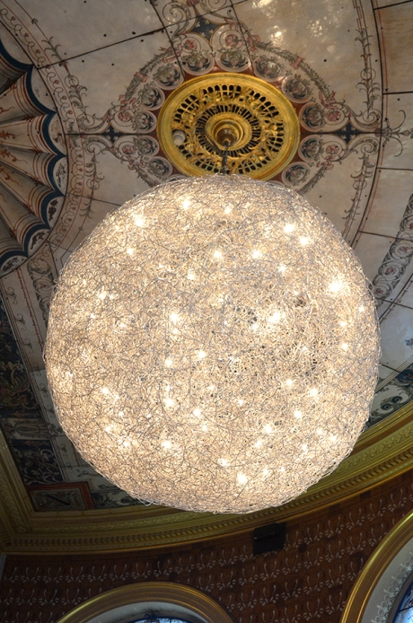 V&A cafe chandelier